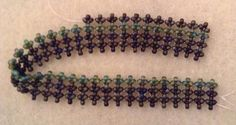 Hubble Stitch by Melanie de Miguel - A combination of flat RAW and herringbone - https://www.facebook.com/HubbleStitch