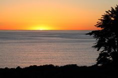 Sunset from the bluff at Point Dume State Beach, Malibu, CA