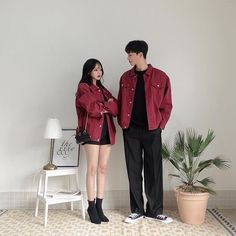 (notitle) - Outfit ʕ→ᴥ←ʔ - Couple Matching Couple Outfits, Matching Couples, Cute Couples, Trendy Fashion, Korean Fashion, Fashion Outfits, Punk Fashion, Style Fashion, Family Outfits