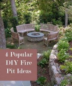 4 DIY Fire Pit Ideas. Gardening, home garden, garden hacks, garden tips and tricks, growing plants, plants, vegetable gardening, planting fruit, flower garden, outdoor living