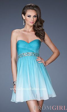 Short Strapless Homecoming Dress at PromGirl.com  dresses ...