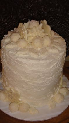 Red Velvet-White Chocolate Cheesecake with White Ganache Coconut Balls ...