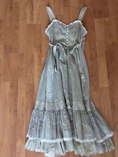 Gunne Sax Dress Prairie Hippie Vintage Size 13 | eBay
