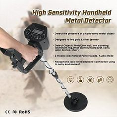 """HOT PRICES FROM ALI - Buy Professtional Underground Metal Detector Adjustable Gold Detectors Treasure Hunter Tracker Seeker Metal Circuit Detector"""" from category """"Sports & Entertainment"""" for only USD. Metal Detectors For Sale, Gold Detectors, Underwater Metal Detector, Waterproof Metal Detector, Coin Jewelry, Silver Jewelry, Jewellery, Metal Detecting, Metal Detector"""