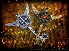 Couples Quest Key Set by ArtbyStarlaMoore on Etsy, $30.00
