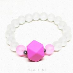 Large Geometric Polygon and Orbs Bracelet