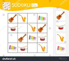 Find Sudoku Game Children Pictures Kids Activity stock images in HD and millions of other royalty-free stock photos, illustrations and vectors in the Shutterstock collection. Thousands of new, high-quality pictures added every day. Activity Sheets For Kids, Kids Sheets, Games For Kids, Activities For Kids, Drawing Conclusions, Music Worksheets, Practical Gifts, Teaching Music, Music Lessons