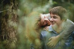 Shannon and Brad's Forest Engagement Photos