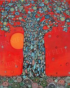 Jennifer Moffet...her work reminds me of Gustav Klimt's ...LOVE it XOXOX