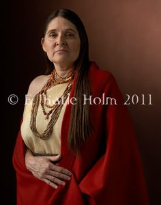 "Women Warriors - photo series by E. Katie Holm: Nanye-hi (Nancy Ward). America, c.1738 - 1822. ""Nanye-hi was a Cherokee Indian who became a ""Beloved Woman"" after an act of bravery during battle. Beloved Women headed the Council of Women and voted in the Council of Chiefs. They also decided the fate of prisoners, and Nanye-hi's skillful negotiations helped save many lives. She struggled for peaceful co-existence between the Cherokee and white settlers."" http://www.ekatieholm.com"