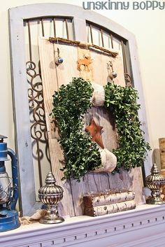 Christmas Mantel 2011 from UnskinnyBoppy.com (8 of 27) by Unskinny Boppy, via Flickr