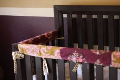 An oldie but goodie, with new life thanks to Pinterest. DIY Crib Rail Guard tutorial.