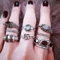 pretty stacked rings