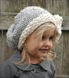 Loom knit big slouchy hat - For my Cindy Kay!