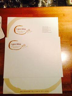 Briefpapier en envelop met nieuw logo