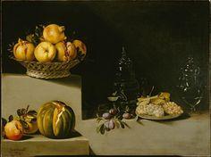 Juan van der Hamen y Leon, Still Life with Fruit and Glassware, 1626