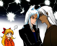 Kunzite and Artemis fighting over Venus