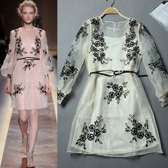 Find More Dresses Information about New Free Shipping Women's Summer Dress Two Pieces Catwalk Organza Embroidered Short Ladies Dress Lady Summer Dress S/M/L,High Quality Dresses from Shenzhen Elsa International Trade on Aliexpress.com