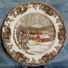 "Friendly Village Dinner Plate, Johnson Brothers, Tan 10"" Dinner Plate #JohnsonBrothers"