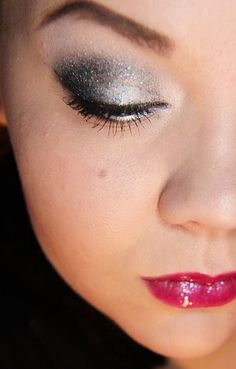 New Years Eve make-up look