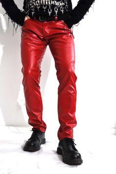 Red Leather Jeans [Red Leather Jeans] - $109.00 : LeatherCult.com, Leather Jeans | Jackets | Suits