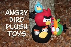 DIY Angry Bird Plushies!
