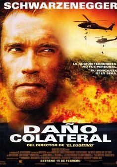 """Arnold Schwarzenegger interpreta a un bombero cuya mujer e hijo han sido asesinados en un ataque terrorista como daño colateral.  El protagonista no parará de perseguir al culpable desde Los Angeles a Colombia pasando por Washington, DC. El fanático terrorista tratará de dar un nuevo golpe en Washington…Pero, ¿cómo?, ¿cuándo?, ¿dónde? Sólo hay una cosa clara: """"Daño Colateral"""" es una bomba de suspense a punto de estallar."""