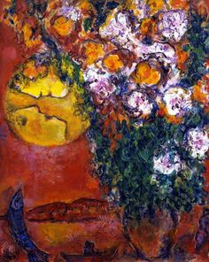 Marc Chagall, Bouquet of lilium at the edge of the sea, circa 1959-1968