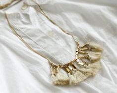 Fashion Jewelry Vintage Antique Bohemian Boho Style Brown Beige Tassel Necklace #TwinkleJewel