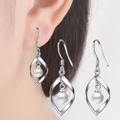 Aliexpress.com : Buy ModaOne 925 Silver Earrings Fashion Jewelry Earrings Banana Shape Jewelry Woman High Quality Wholesale Free Shipping from Reliable Drop Earrings suppliers on ModaOne Jewellery Store