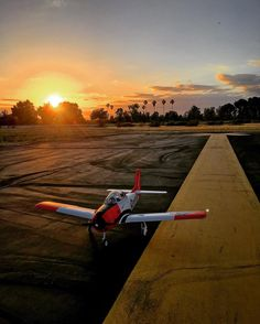 Ready for a twilight takeoff! #horizonhobby #carbonzt28 #rc #airplane #taxi #runway #sunset #warbird #twilight #apollo #field #smithbrothers by aerialprofilms