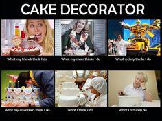 cake decorating - what i think i do haha