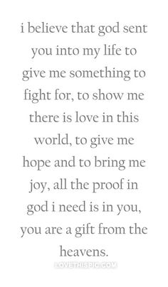 You are a gift from the heavens love quotes quotes quote god life hope joy