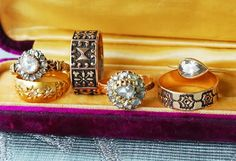 Antique and Conroy & Wilcox rings at Metier