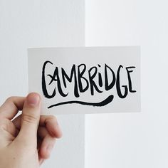 Cambridge hand lettering // Sea of Atlas