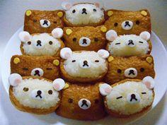 Cute Sushi (inari sushi) ! Characters name is relakkuma. ralaluma = ralax + kuma(japanese bear)