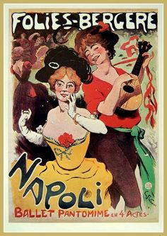 Ballet Folie Bergere Napoli 1900s  Print by BloominLuvly on Etsy, $9.95