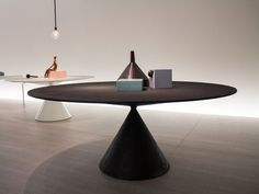 Contemporary table / engineered stone / ceramic / glass CLAY DESALTO spa