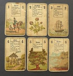 Antique CL Wüst Lenormand Fortune Telling Oracle Cards