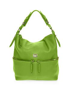 Dooney And Bourke Leather Zipper Pocket Sack ~   <3 Lime Green ...