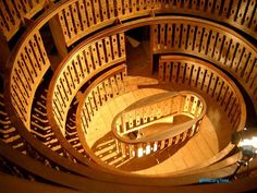 The world's oldest surviving anatomical theatre. Palazzo del Bo at the University of Padua. Built in 1594.