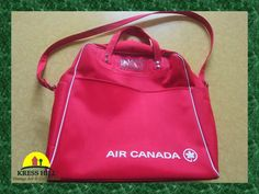 Original AIR CANADA Red Footed Airline Bag by KressHillVintage