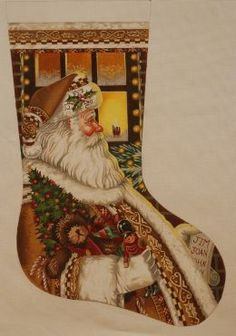 click here to view larger image of Toymaker Stocking (hand painted canvases) | Needlepoint canvases | Pinterest | Stockings Click! and Canvases : tapestry tent needlepoint christmas stockings - memphite.com
