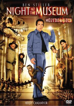 Muzede Bir Gece - Night at the Museum - 2006 - DVDRip Film Afis Movie Poster