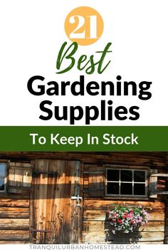 21 Best Gardening Supplies To Keep in Stock [Buying Guide] Did you run out again! Problems keeping your gardening supplies in stock? Know exactly what you need and get the free checklist so you never run out again. Take Out Containers, Garden Labels, Fertilizer For Plants, Plant Diseases, Plant Supports, Garden Maintenance, Square Foot Gardening, Organic Gardening, Vegetable Gardening