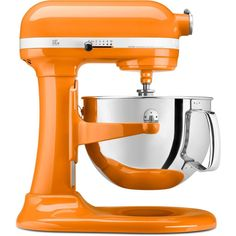 Professional 600 Series 6 Qt. Bowl-Lift Stand Mixer with Pouring Shield in Tangerine (Orange)