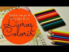 Atelier Gina Pafiadache: Livros de Colorir: Textura com Giz de cera/ Lápis de cor