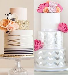 There are too many wedding cake styles to count. Every last sugary bite is part of a unique and special reflection of you as a couple, as well as the crazy-talented baker who made your frosted dreams come true. The traditional 3-tier white wedding cake isn't going out of style any time soon, but for