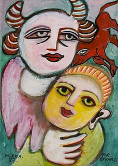 Mirka Mora: March 1928 – 27 August was a French-born Australian visual artist and cultural figure who contributed significantly to the development of contemporary art in Australia. Her media included drawing, painting, sculpture and mosaic. Weird Creatures, Naive Art, Australian Artists, Henri Matisse, Outsider Art, Mother And Child, Art Lessons, Folk Art, Contemporary Art