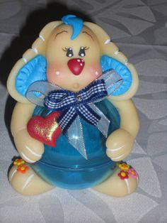 Pote Cachorrinho Biscuit, Decorated Jars, Christmas Ornaments, Holiday Decor, Decorating Jars, Jars, Diy Dog, Mason Jars, Christmas Jewelry
